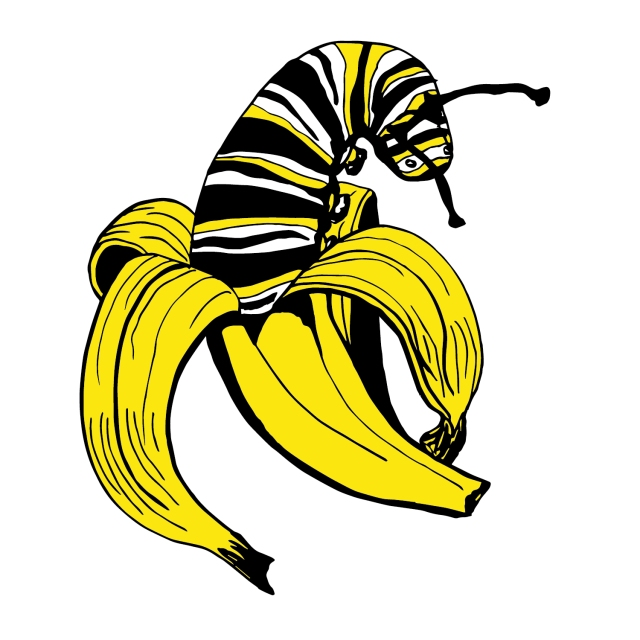caterpillar banana
