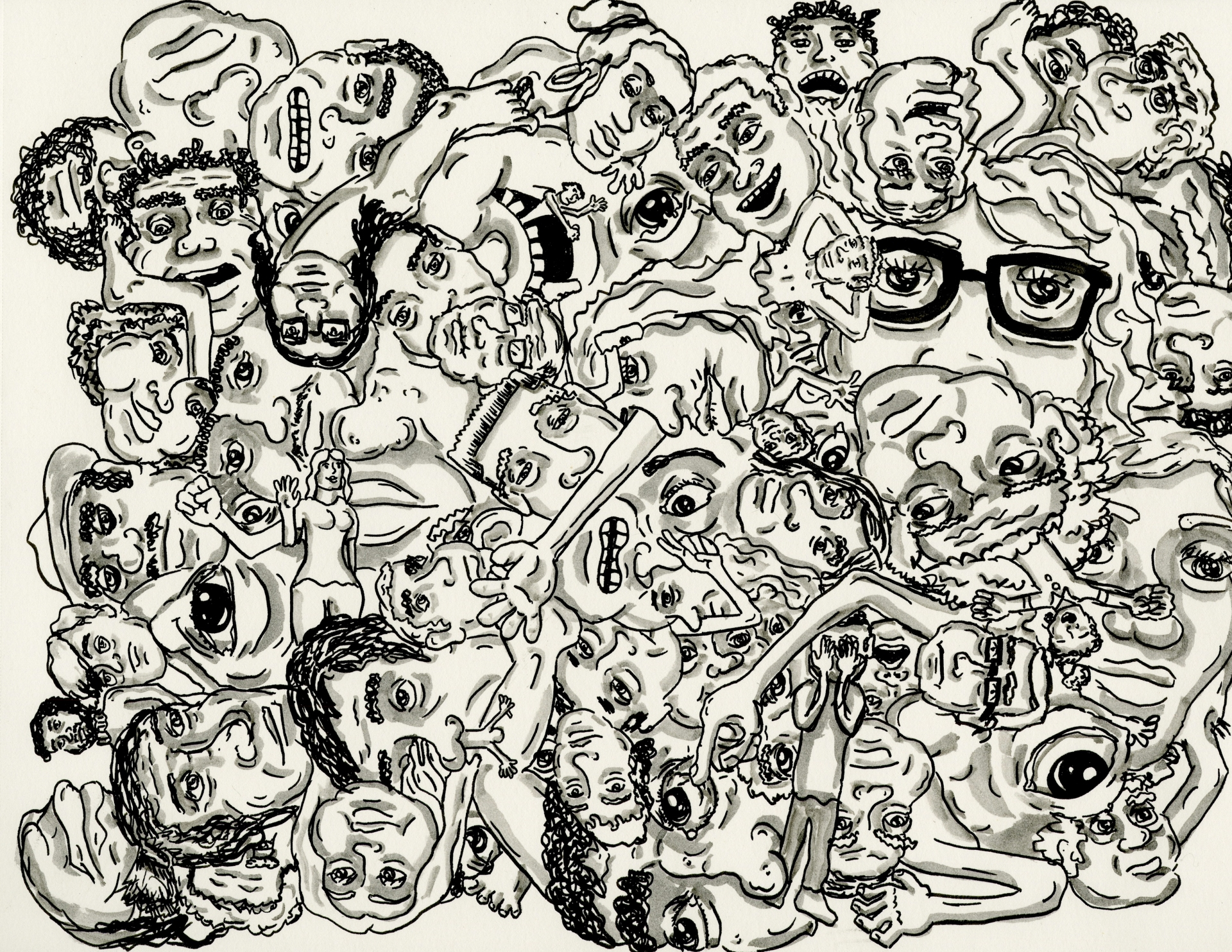 chaotic crowds