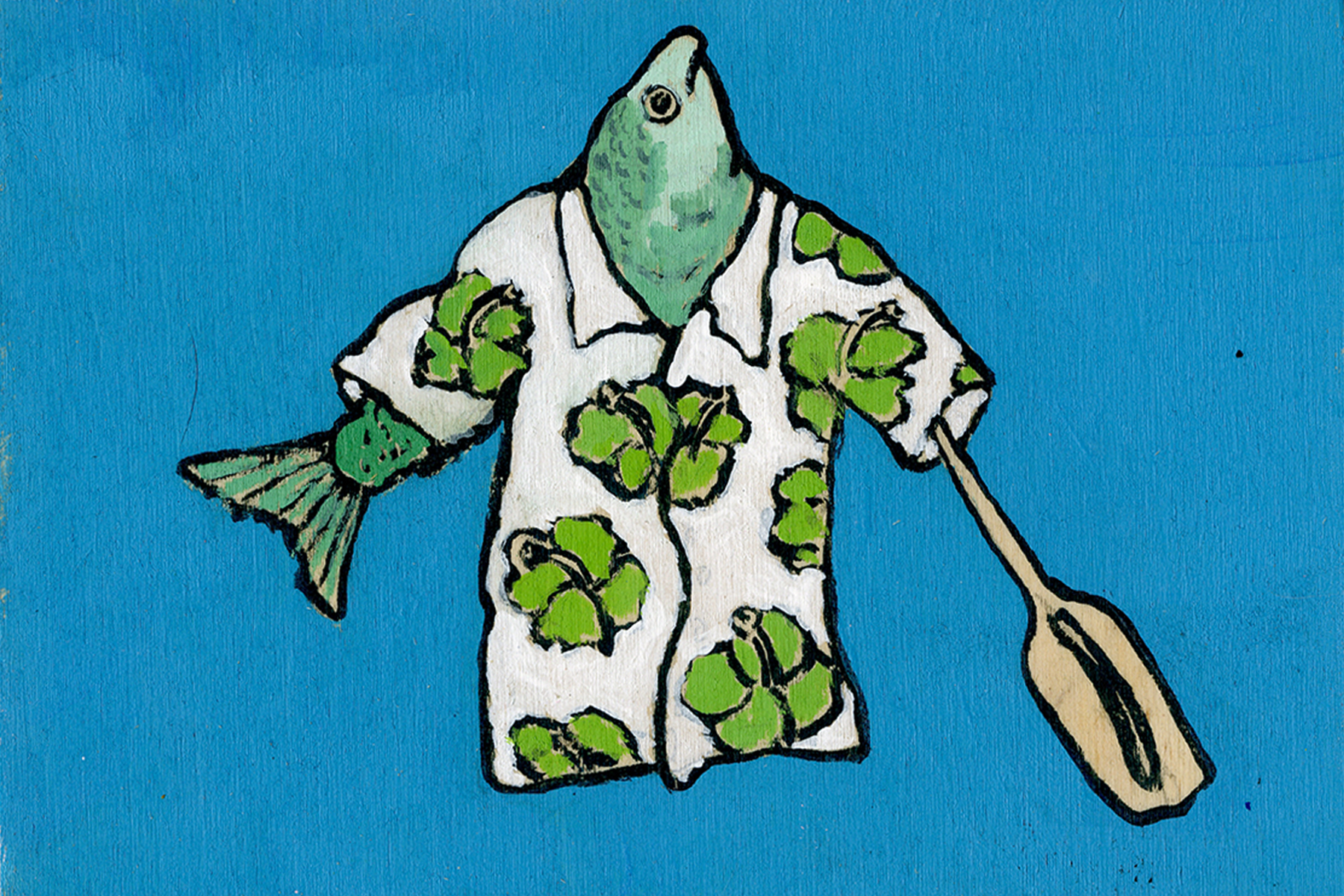 hawaiian fish paddle